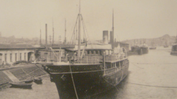 Ethie entering the dry dock